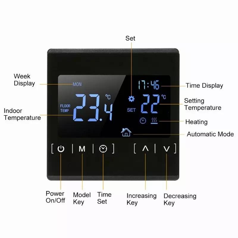 Терморегулятор для тёплого пола с сенсорным экраном