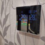 Умный термостат терморегулятор AVATTO Tuya с Wi-Fi с зеркальным сенсорным экраном